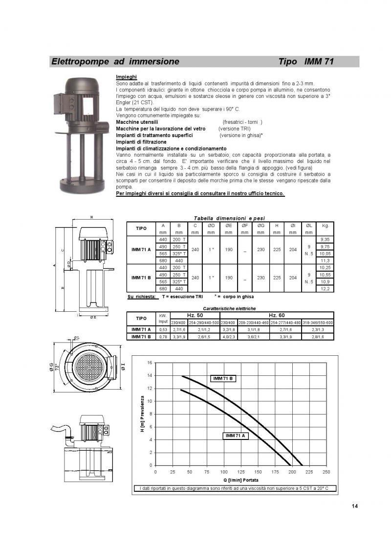Elettropompa IMM 71